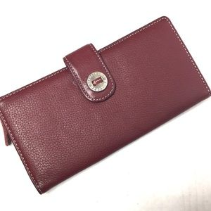 3/$30 Kenneth Cole Maroon Leather Trifold Wallet